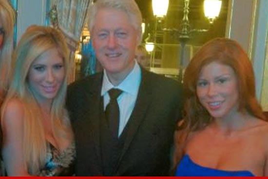 Bill Clinton with AVN stars