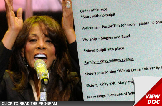 Donna Summer Funeral Program