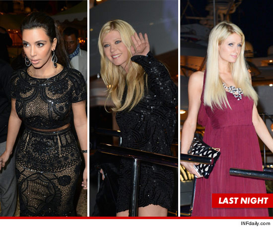 Kim Kardashian, Paris Hilton, and Tara Reid