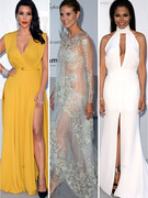 Serious Skin at amFAR: Kim's Legs, Janet's Boobs & Heidi's Whole Body!