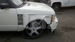 Jenna Jameson&#039;s Range Rover Crash Photos
