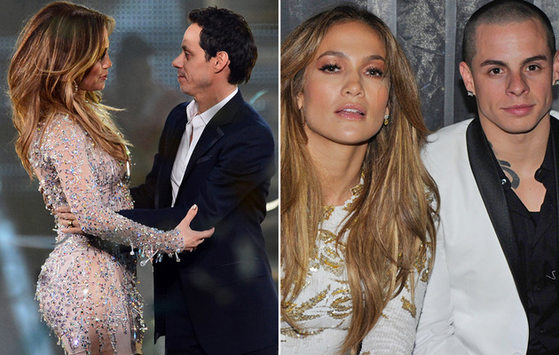 Jennifer Lopez Hits Vegas With Casper Smart & Marc Anthony