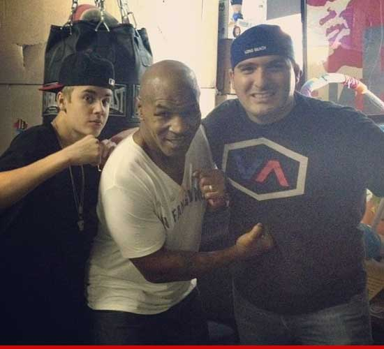 Justin Bieber and Mike Tyson.