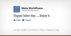 Metta World Peace Wishes You a Happy Memorial Day