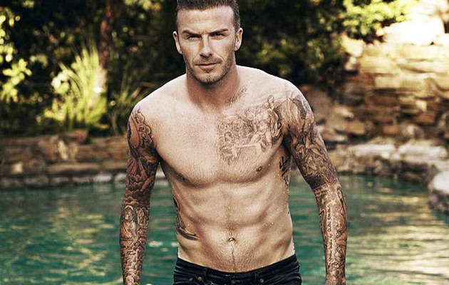 David Beckham Strips for Elle UK!