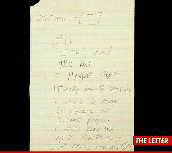 Creepy I Cannot Sleep Letter from Michael Jackson