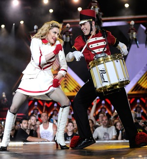 Madonna Marches to Her Own Beat!