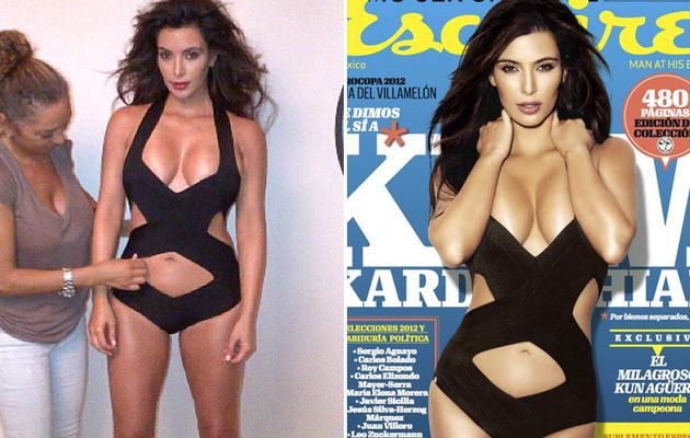 Kim Kardashian: Sexy Swimsuit for Esquire Latin America