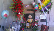 Marilyn Monroe -- Grave Site BOMBARDED with Marilyn Memorabilia