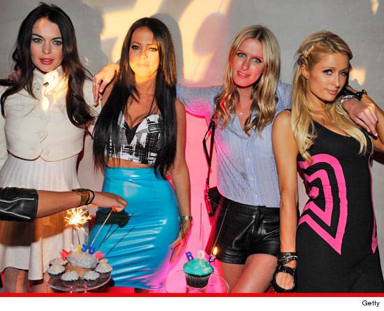 Lindsay Lohan, Nicky & Paris Hilton
