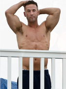 Shirtless at the Shore -- The Situation Bares His Buff Bod