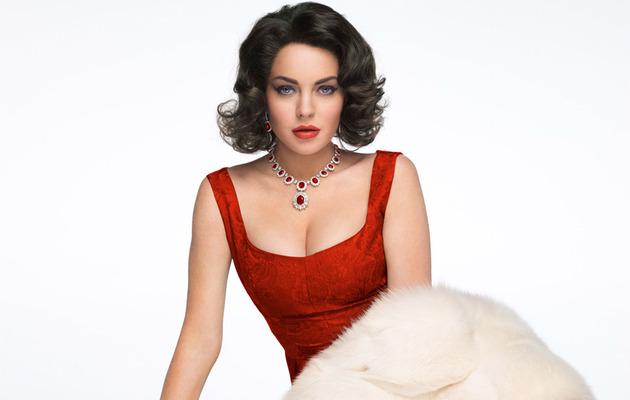 See More Shots Of Lindsay Lohan As Elizabeth Taylor!