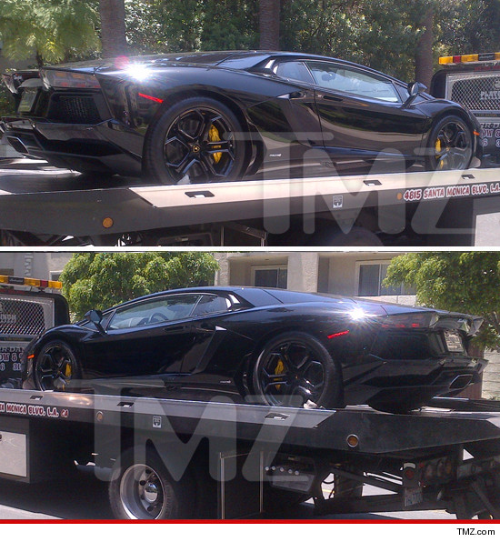 A Lamborghini gifted to Kanye West from Kim Kardashian