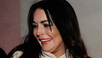Lindsay Lohan -- Hiding Crash Wounds For Liz Taylor Gig