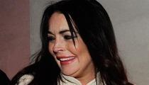 Lindsay Lohan -- Hiding Crash Wounds For Liz Taylor Gig