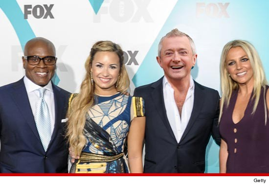 0609_la_reid_demi_lovato_louis_walsh_britney_spears_x_factor_getty