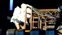 Lady Gaga -- SMACKED in the Head by Giant Pole During Show