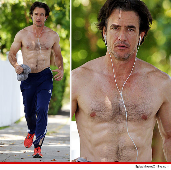 Dermot Mulroney Shirtless, Sweaty & Ripped!