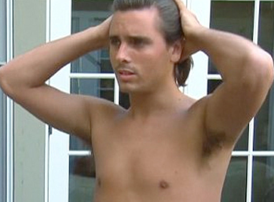 "Scott Disick Reenacts Shirtless ""Notebook"" Scene for Kourtney Kardashian"