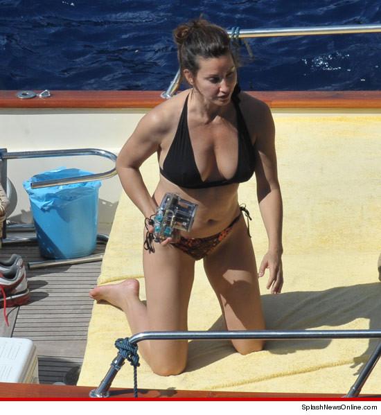 Gina Gershon in a bikini