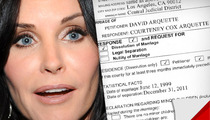 Courteney Cox Responds to David Arquette's Divorce Petition