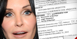 Courteney Cox Responds to David Arquette&#039;s Divorce Petition