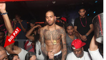 Chris Brown Topless Ballin' Before Fight with Drake