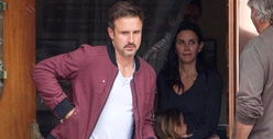 Courteney Cox -- Birthday lunch Date with David Arquette 