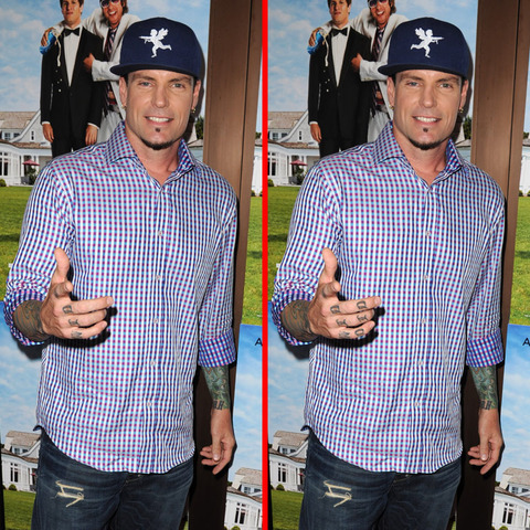 Can you spot the THREE differences in the Vanilla Ice picture?