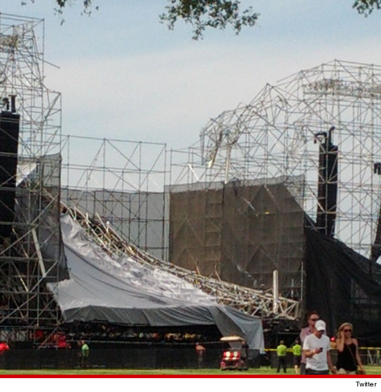 The stage at Downsview Park in Toronto collapsed before Radiohead was set to perform.