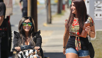 Snooki & Deena from 'Jersey Shore' -- Scootin' Along