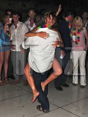 Mel Gibson Parties Hard with Maria Menounous