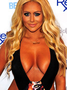 Aubrey O'Day Reveals Way Too Much In Skimpy Black Swimsuit!