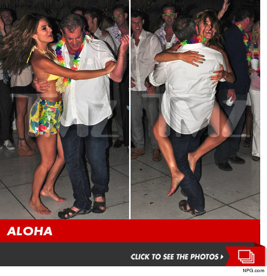 Mel Gibson dancing with Maria Menounos