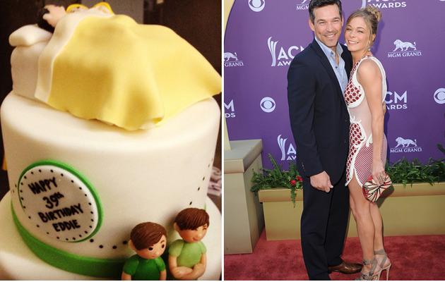 LeAnn Rimes Gives Eddie Cibrian Inappropriate B-Day Cake