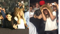 Kim Kardashian & Beyonce -- Female Bonding at Kanye West & Jay-Z's Show