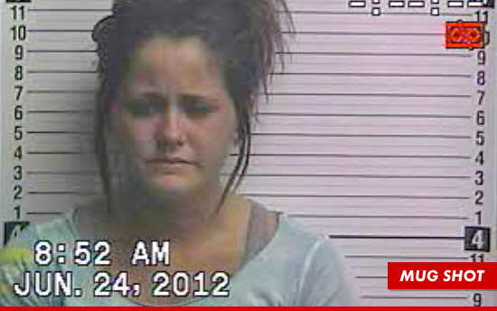 Jenelle Evans and her sad mug shot