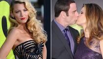 """Savages"" Premiere: Blake Lively Stuns, Travolta & Preston Share Major PDA"