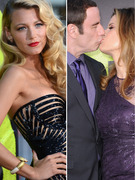 """Savages"" Premiere: Blake Lively Stuns, Travolta & Preston Share Major PDA"