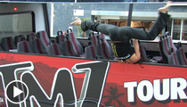 Pole Dancers Takeover TMZ Tour Bus