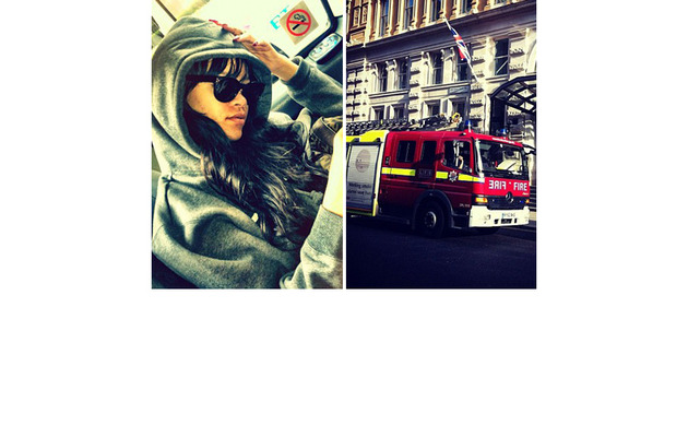 Rihanna Escapes London Fire