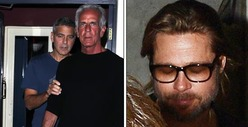 George Clooney -- Parties with Brad Pitt ... After Flying with Jen Aniston