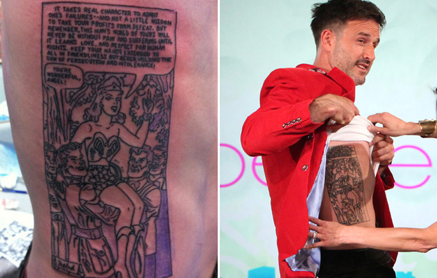 David Arquette Shows Off His HUGE Wonder Woman Tattoo