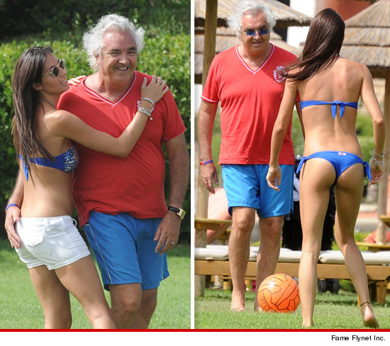 Flavio Briatore and wife Elisabetta Gregoraci