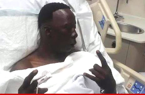 Crunchy Black recovering in the hospital.