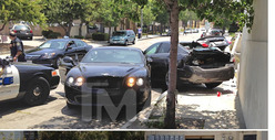Jillian Michaels -- Stolen Bentley Wreckage [PHOTOS]