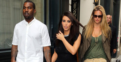 Kanye West &amp; Kim Kardashian -- Touchy-Feely in Paris