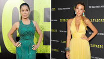 Sexy 'Savages' -- Salma Hayek vs. Blake Lively: Who'd You Rather?