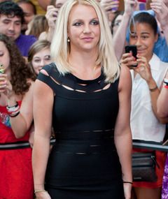 "Britney Spears Wears LBD, Goes Without Long Extensions for ""X Factor"""