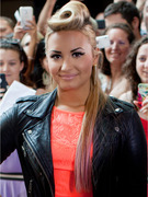 "Demi Lovato Sports Crazy Hairdo at ""X Factor"" Auditions"